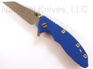"Rick Hinderer Knives XM-18 Wharncliffe, 3"" S35VN Blade, Blue G-10"