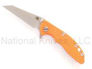 "Rick Hinderer Knives XM-18 Wharncliffe, 3"" S35VN Blade, Orange G-10"