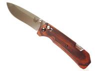 "Benchmade Grizzly Creek 15060-2 Folding Knife, 3.5"" Plain Edge S30V Blade, Dymondwood Handle"