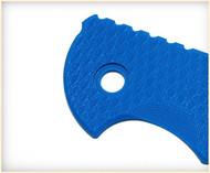 "Rick Hinderer Knives Folding Knife Handle Scale for XM-18 - 3.5"", Blue"