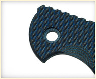 "Rick Hinderer Knives Folding Knife Handle Scale for XM-18 - 3.5"", Blue - Black"