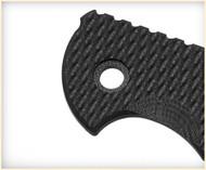 """Rick Hinderer Knives Folding Knife Handle Scale for XM-24 - 4"""", Black"""