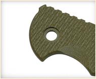 "Rick Hinderer Knives Folding Knife Handle Scale for XM-24 - 4"", Olive Drab (OD) Green"