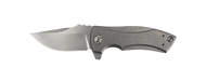 "Zero Tolerance ZT 0900 Flipper Folding Knife, 2.75"" Plain Edge S35VN Blade, Titanium Handle"