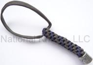 Zero Tolerance Knives ZT Lanyard LANYARDSZTGRAY/BLUE, Solid Pewter Bead, Gray and Blue Paracord