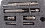 Rick Hinderer Knives Titanium Modular Pen Set, Tumbled