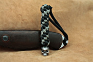Schmuckatelli Cyber Skull Lanyard CYBLBDCP, Solid Pewter Bead, Black and Digi Camo Paracord
