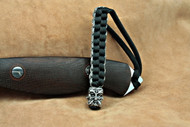 Schmuckatelli Green Man Bead Lanyard GMBLBDCP, Solid Pewter Bead, Black and Digi Camo Paracord