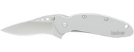 "Kershaw Scallion 1620FL Assisted Opening Folding Knife, 2.25"" Plain Edge Blade, Stainless Steel Handle"