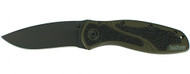 "Kershaw Blur 1670OLBLK Assisted Opening Folding Knife, Black 3-3/8"" Plain Edge Blade, Olive Drab Handle"