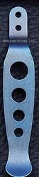Rick Hinderer Knives Holey Pocket Clip - Titanium - Anodized Blue