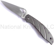 "Byrd Cara Cara 2 BY03TIP2 Folding Knife, 3.75"" Plain Edge Blade, Titanium Handle"