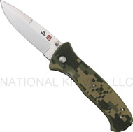 "Al Mar SERE 2000 S2KDC Folding Knife, 3.6"" Plain Edge Blade, Digital Camo G-10 Handle"
