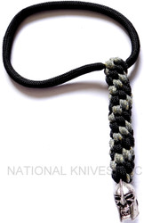 Schmuckatelli Spartan Skull Lanyard SPBLBDCP, Solid Pewter Bead, Black and Digi Camo Paracord