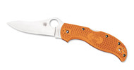 "Spyderco Stretch C90FPBORE Sprint Run Folding Knife, 3.5"" Plain Edge HAP40 and SUS 410 laminated Blade, Burnt Orange FRN Handle"