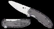 "Spyderco Mantra 2 C203TIP Folding Knife, 3.25"" Plain Edge CPM-M4 Blade, Titanium Handle"