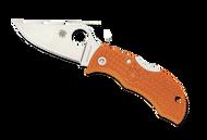 "Spyderco Manbug MBORPE Sprint Run Folding Knife, 1.968"" Plain Edge HAP40 and SUS 410 Laminate Blade, Burnt Orange FRN Handle"