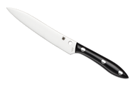 "Spyderco Cook's Knife K11P Kitchen Knife, 6.125"" Plain Edge Stainless Steel Blade, Black Corian Handle"