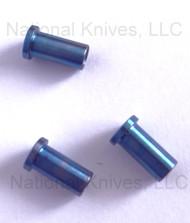 "Rick Hinderer Knives Folding Knife Handle Nut Set for 3.5"" XM-18, Titanium - Blue"