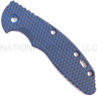 "Rick Hinderer Knives Folding Knife Handle Scale for XM-18 - 3.5"", SPECIAL Blue-Black"