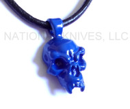 Schmuckatelli Fang Skull Pendant FPPCB, Powder Coated Blue Finish