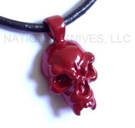 Schmuckatelli Fang Skull Pendant FPPCR, Powder Coated Red Finish