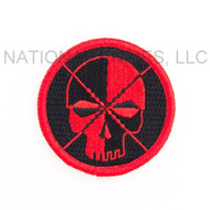 Schmuckatelli Embroidered Patch PTH - Black and Red