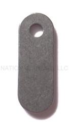 Rick Hinderer Knives Titanium Filler Tab (1) - Single Hole - Stonewashed