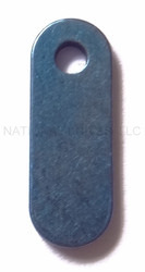 Rick Hinderer Knives Titanium Filler Tab (1) - Single Hole - Anodized Blue