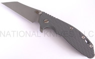 "Rick Hinderer Knives XM-24 Wharncliffe Folding Knife, Working Finish 4"" Plain Edge M390 Blade, Working Finish Lock Side, Battleship Gray G-10 Handle"