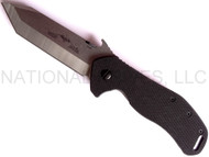 "Emerson Knives Big Bulldog SF Folding Knife, Satin 3.8"" Plain Edge 154CM Blade, Black G-10 Handle, Emerson ""Wave"" Opener"