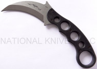 "Emerson Karambit SF Fixed Blade Knife, Stonewashed 3.125"" Plain Edge 154CM Blade, Black G-10 Handle"