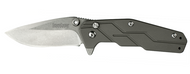 "Kershaw Dimension 3810 Assisted Opening Folding Knife, 3"" Plain Edge Blade, Titanium Handle"