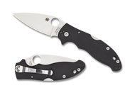 "Spyderco Manix 2 Back Lock C101MBGP2 Folding Knife, 3.375"" Plain Edge Blade, Black G-10 Handle"