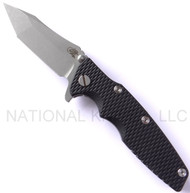 "Rick Hinderer Knives Generation 2 Eklipse Harpoon  Tanto Folding Knife, Working Finish 3 5/8"" Plain Edge CPM-20CV Blade, Working Finish Lock Side, Black G-10 Handle"