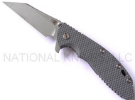 "Rick Hinderer Knives Gearhead XM-24 Wharncliffe Limited Edition Knife, Working Finish 4"" M390 Blade, Working Finish Lock Side, Battleship Gray G-10 Handle - SERIAL #07/25 Package Set Includes 1 - G-10 FDE Scale and 1 - Textured Carbon Fiber Scale"