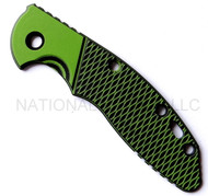 """Rick Hinderer Knives XM-18 """"Bolstered"""" G-10 Handle Scale - Fits 3.5"""" Models Only - Toxic Green and Black"""