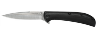 "Kershaw AM-4 2330 Assisted Opening Folding Knife, Satin 3.5"" Plain Edge Blade, Black G-10  Handle"