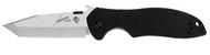 "Kershaw Emerson CQC-7K 6034T Tanto Folding Knife, 3.25"" Plain Edge Blade, Black G-10 Handle"