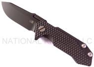 "Rick Hinderer Knives Half Track Folding Knife, DLC Black 2.75"" Plain Edge S35VN Blade, DLC Black Textured Lock Side, DLC Black Textured Titanium"
