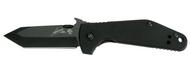 "Kershaw Emerson CQC-3K 6014TBLK Folding Knife, Black 2.75"" Plain Edge Blade, Black G-10 Handle"
