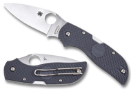"Spyderco Chaparral C152PGY Folding Knife, 2.812"" Plain Edge Blade, Gray FRN Handle"