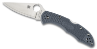 "Spyderco Delica 4 C11FPBLE Sprint Run Folding Knife, 2.875"" Plain Edge V-Toku2 and SUS310 Laminate Blade, Blue-Gray FRN Handle"