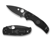 "Spyderco Native 5 C41PBBK5 Folding Knife, Black 3"" Plain Edge S35VN Blade, Black FRN Handle"