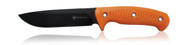 "Steel Will Knives Roamer R305-1OR Fixed Blade Knife, 5.625"" Plain Edge Blade, Orange TPE Handle, Sheath"