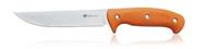 Steel Will Knives Roamer R375-1OR Fixed Blade Knife, 9Cr18MoV Plain Edge Blade, Orange TPE Handle