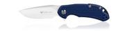 """Steel Will Knives Cutjack Mini C22M-1BL Folding Knife, 3.062"""" Plain Edge D2 Blade, Blue FRN Handle"""
