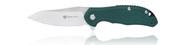 "Steel Will Knives Modus F25-12 Folding Knife, 3.25"" Plain Edge D2 Blade, Green FRN Handle"
