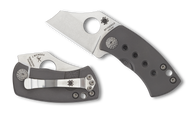 Spyderco McBee C236TIP Folding Knife, Plain Edge Blade, Titanium Handle