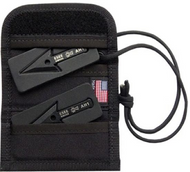 "ESEE Arrowhead, Black Cordura Wallet, Comes with Two 2.5"" AH-1 Arrowheads"